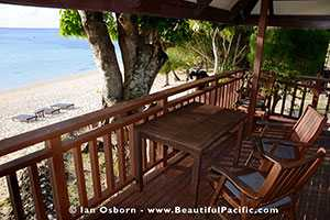 veranda of aitutaki beach villas